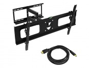 64% off Ematic EMW5206 HDTV Wall Mount w/ 15' HDMI Cable