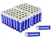 54% off 80-Pack: Toshiba AA 1.5V Alkaline Batteries