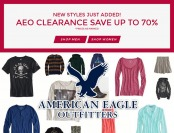 70% off American Eagle Outfitters Clearance Sale - Mens & Womens