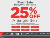 Sports Authority Flash Sale - 25% Off