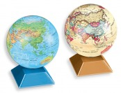 57% off Thinktank Magic Revolving Globe, Gold or Blue Finish