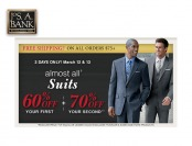 Extra 60% & 70% off Suits at Jos. A. Bank