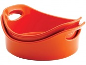 77% off Rachael Ray 2-Piece Bubble & Brown Round Baker Set