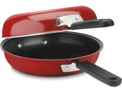 "57% off Cuisinart 10"" Frittata Nonstick Skillet Set, Red"