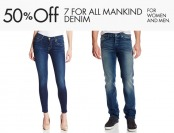 50% off 7 For All Mankind Denim for Men & Women, 26 Styles