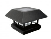 35% off 4-Pack Veranda Black Solar-Powered Composite Post Caps