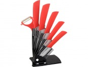 31% off Melange Ceramic Knife Set with Peeler, White Zirconium Blade