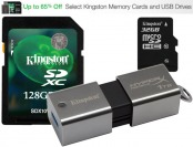 Up to 65% Off Select Kingston Memory Cards and USB Drives