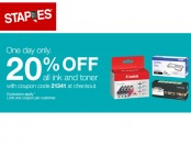 Extra 20% off All Ink and Toner at Staples.com