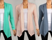 $33 off Spring Draped Cardigans, Multiple Colors