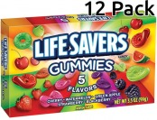 80% off LifeSavers Gummies, 5 Flavor, 3.5-Oz Boxes (Pack of 12)