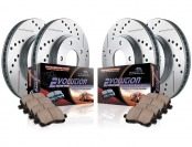 $498 off Power Stop K2154 Front/Rear Ceramic Brake Kit