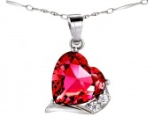 81% off Mabella Fashion 6 cttw Heart Shaped 12mm Ruby Pendant