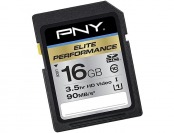 80% off PNY Pro Elite 16GB SDHC Class 10 Memory Card