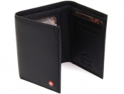 78% off Alpine Swiss Men's Black Lambskin Leather Trifold Wallet