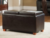 $45 off Home Decorators Brexley Double Storage Leather Ottoman