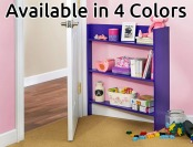 $60 off Foremost Plum Heidi Junior Behind the Door 3-Shelf Bookcase