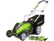 "$139 off GreenWorks G-MAX 19"" Mower, 2 G-MAX 40V Batteries"