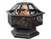 $72 off UniFlame Hex Shaped Outdoor Fire Bowl with Lattice