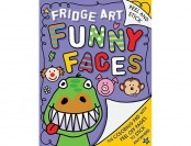 60% off Fridge Art: Funny Faces - Peel & Stick Coloring Pages