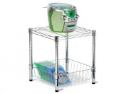 $48 off Honey-Can-Do 15 in. x 16 in. Chrome Table with Basket