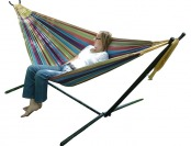 $80 off Vivere Double Hammock w/ Space-Saving Steel Stand, 5 Colors