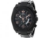 93% off Swiss Precimax Admiral Pro Black Stainless Steel Watch