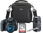 $43 off Canon EOS Rebel T3i 18MP DSLR w/Bag & Memory Card