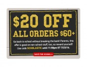 $20 off All Orders of $60+ at ThinkGeek.com