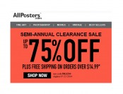 Allposters Semi-Annual Sale - Up to 75% off