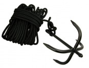 43% off Heavy Duty Grappling Hook with 30' Black Nylon Rope