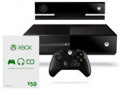 Xbox One Kinect Console Bundle with $50 Xbox Live Gift Card