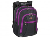 48% off SwissGear Skywalk Deluxe Laptop Backpack - Black/Orchid