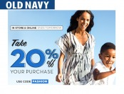 Save 20% off Your Purchase at Old Navy