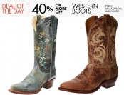 40% or more off Western Boots from Ariat, Justin, Tony Lama, etc.