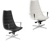 70% off Euro Style Domino Lounge Chairs, Black or White