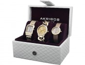 90% off Akribos XXIV Diamond Accented Women's 3 Watch Set