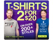 ThinkGeek T-Shirt Sale - 2 for $20, 200+ Styles