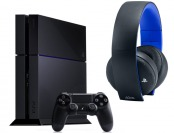 Playstation 4 500GB Console with Wireless Gold Headset