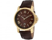 91% off Lucien Piccard Cilindro Brown Leather Men's Watch