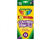 68% off Crayola Long Barrel Colored Woodcase Pencils, 12 count