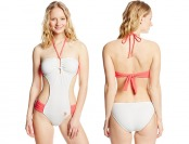 76% off U.S. Polo Assn. Women's Piquet Bandeau Monokini