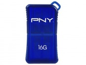 47% off PNY Micro Sleek Attache 16GB USB 2.0 Flash Drive - Blue