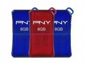 30% off 3-Pack PNY Micro Sleek Attache 8GB USB 2.0 Flash Drives
