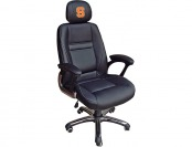 83% off NCAA Syracuse Orange Leather Head Coach Office Chair