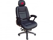 83% off NCAA Wisconsin Badgers Leather Head Coach Office Chair