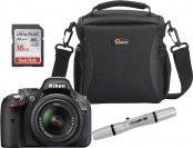 $50 off Nikon D5200 24.1MP DSLR Camera Kit with 18-55mm Lens