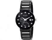 $277 off Bulova Diamond Accented Black Dial Men's Bracelet Watch