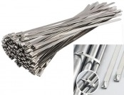 "62% off 100pcs 11.8"" Stainless Steel Locking Cable Zip Ties"