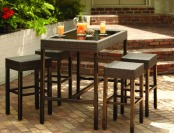50% off Hampton Bay Tacana 5-Piece Patio High Bar Dining Set
